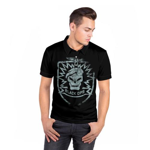 Мужская рубашка поло 3D  Фото 05, Black Ops