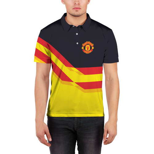 Мужская рубашка поло 3D  Фото 03, Manchester United