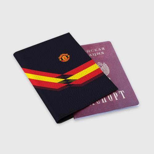 Обложка для паспорта матовая кожа  Фото 03, Manchester United #4