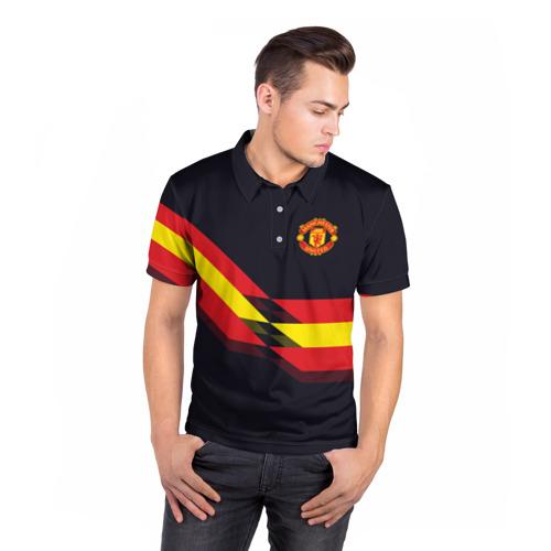Мужская рубашка поло 3D  Фото 05, Manchester United #4