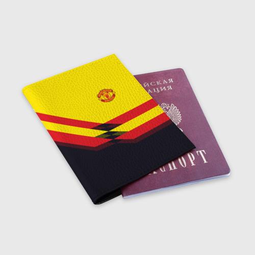 Обложка для паспорта матовая кожа  Фото 03, Manchester United #5