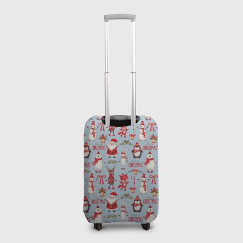 Чехол для чемодана 3D Рождественская Милота Фото 01