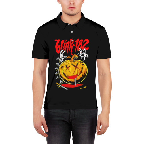Мужская рубашка поло 3D  Фото 03, Хэллоуин с Blink-182