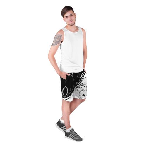 Мужские шорты 3D  Фото 03, Цветочный узор