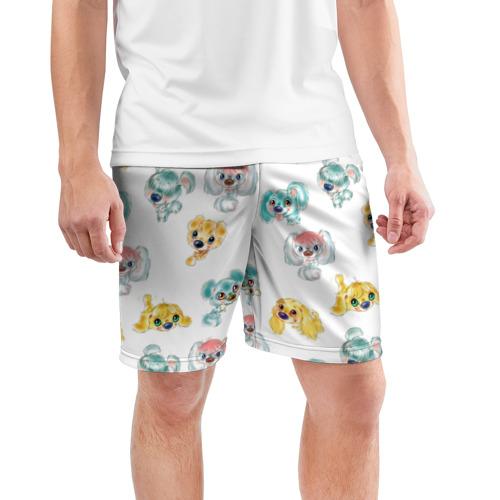 Мужские шорты 3D спортивные  Фото 03, Собачки