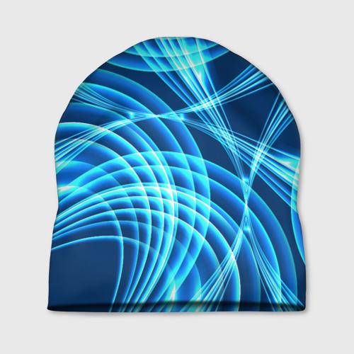 Шапка 3D  Фото 01, Синие вихри