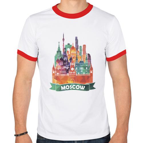 Мужская футболка рингер  Фото 01, Москва / Moscow