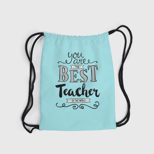 Рюкзак-мешок 3D  Фото 04, Лучший учитель