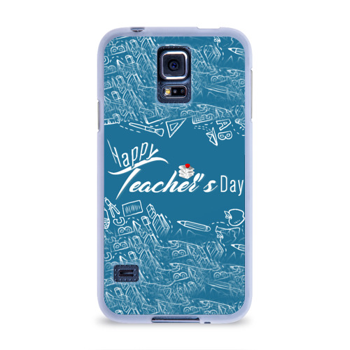 Чехол для Samsung Galaxy S5 силиконовый  Фото 01, С днём учителя!