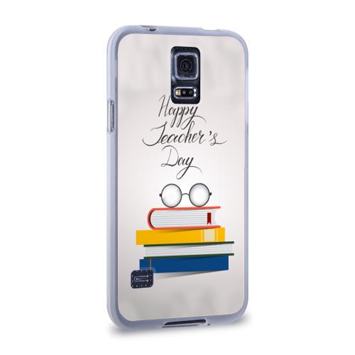 Чехол для Samsung Galaxy S5 силиконовый  Фото 02, С днём учителя!