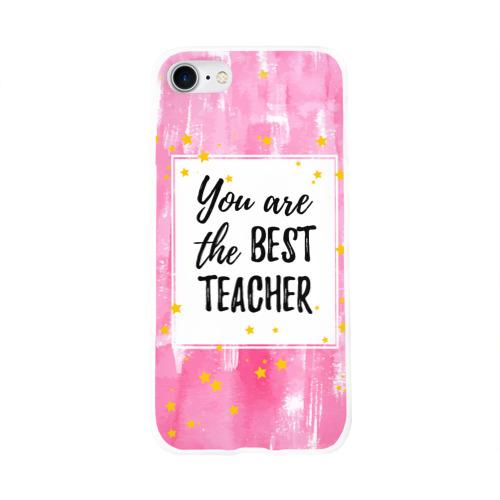 Чехол для Apple iPhone 8 силиконовый глянцевый  Фото 01, Лучший учитель