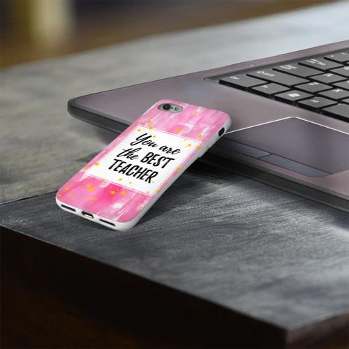 Чехол для Apple iPhone 8 силиконовый глянцевый  Фото 03, Лучший учитель