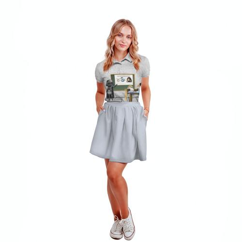 Женская рубашка поло 3D  Фото 04, Вейдер-учитель