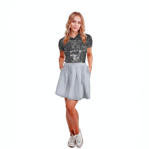 Женская рубашка поло 3D  Фото 04, Школьная доска