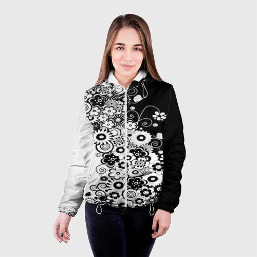 Женская куртка 3D  Фото 03, Цветочный орнамент