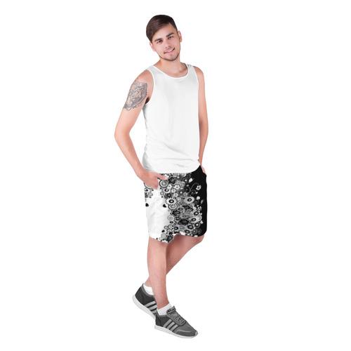 Мужские шорты 3D  Фото 03, Цветочный орнамент