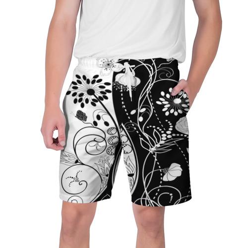 Мужские шорты 3D  Фото 01, Retro flower