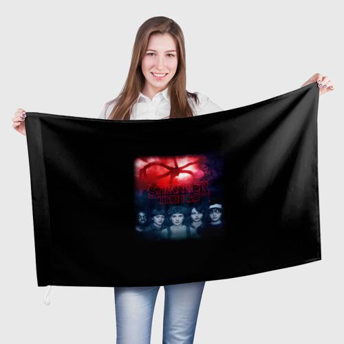 Флаг 3D Очень странные дела  Фото 01