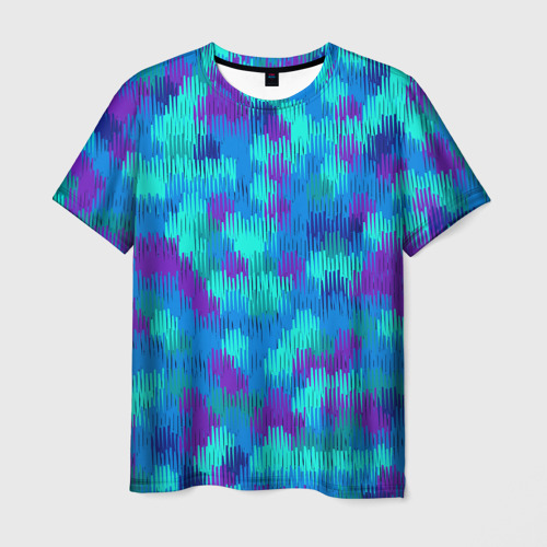Мужская футболка 3D Пятна  из красок