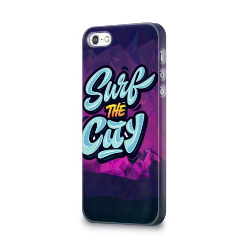 Чехол для Apple iPhone 5/5S 3D  Фото 03, Surf the City Purple