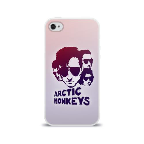 Чехол для Apple iPhone 4/4S силиконовый глянцевый Группа Arctic Monkeys Фото 01