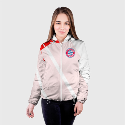 Женская куртка 3D  Фото 03, Bayern Munchen - Stripe (2018 NEW)