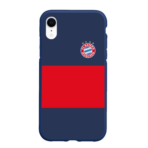 Чехол для iPhone XR матовый Bayern Munchen - Red-Blue FCB (2018 NEW) Фото 01