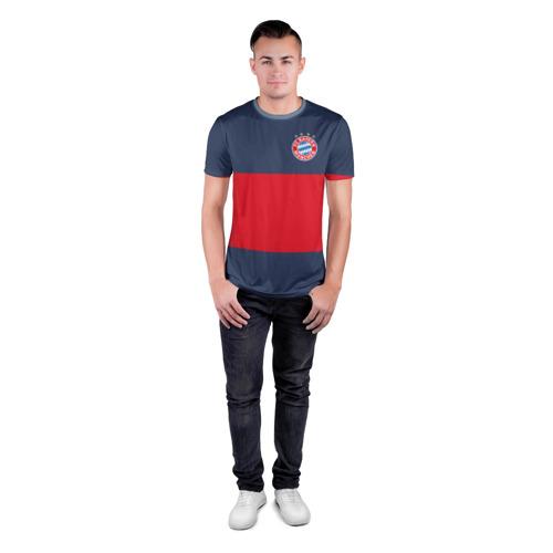 Мужская футболка 3D спортивная Bayern Munchen - Red-Blue FCB (2018 NEW) Фото 01