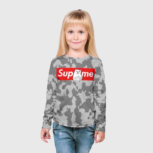 Детский лонгслив 3D  Фото 03, Supreme Ripndip #1