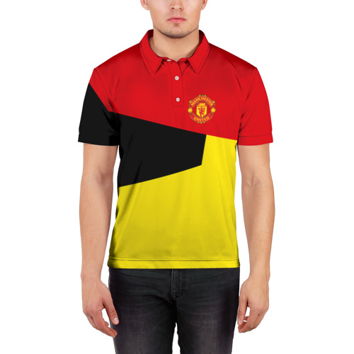 Мужская рубашка поло 3D  Фото 03, Manchester United 2018 #11