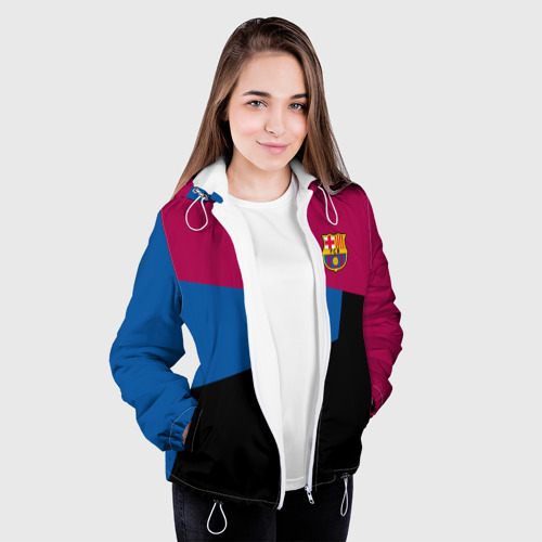 Женская куртка 3D  Фото 04, FC Barcelona 2018 #5