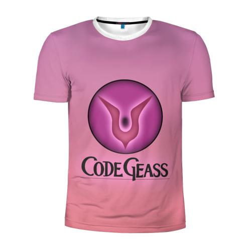 Мужская футболка 3D спортивная Eye Lelouch Code Geass