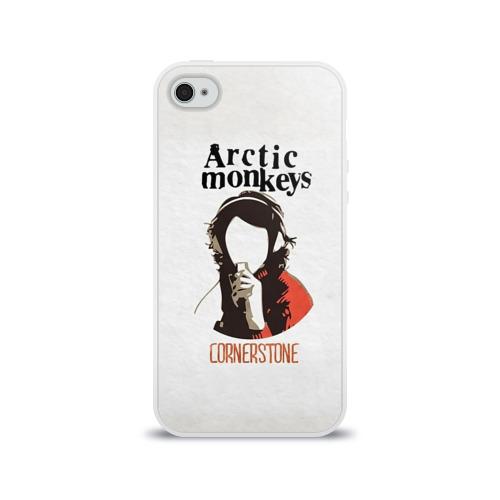 Чехол для Apple iPhone 4/4S силиконовый глянцевый Arctic Monkeys cornerstone Фото 01
