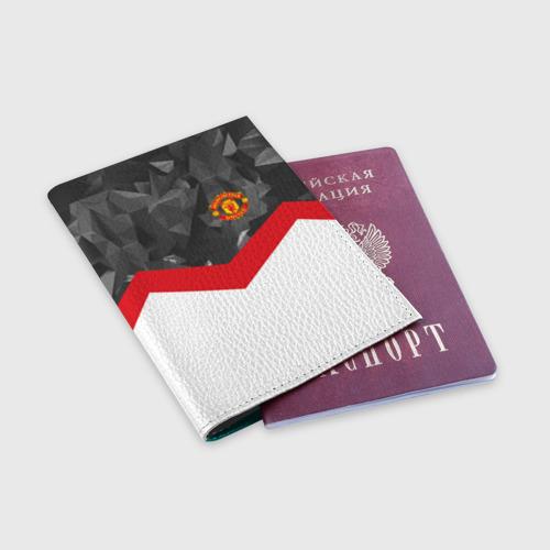 Обложка для паспорта матовая кожа  Фото 03, Manchester United 2018 #16