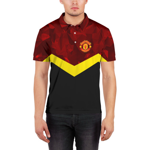 Мужская рубашка поло 3D  Фото 03, Manchester United 2018 #17