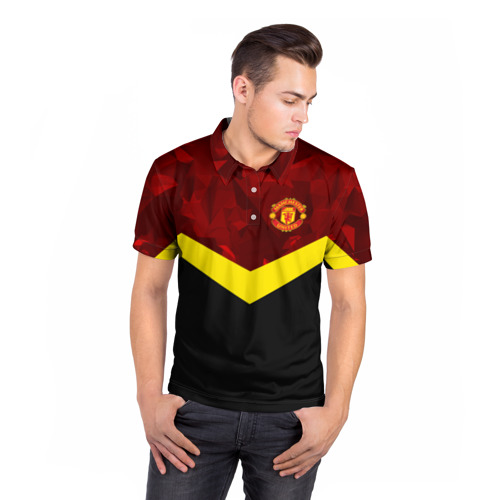 Мужская рубашка поло 3D  Фото 05, Manchester United 2018 #17