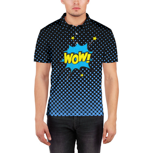 Мужская рубашка поло 3D  Фото 03, Вау!