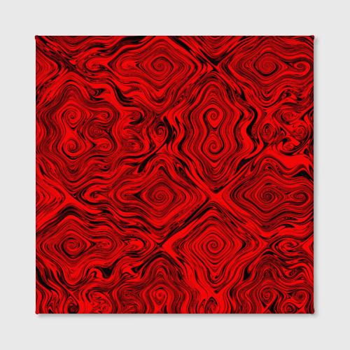 Холст квадратный  Фото 02, Tie-Dye red