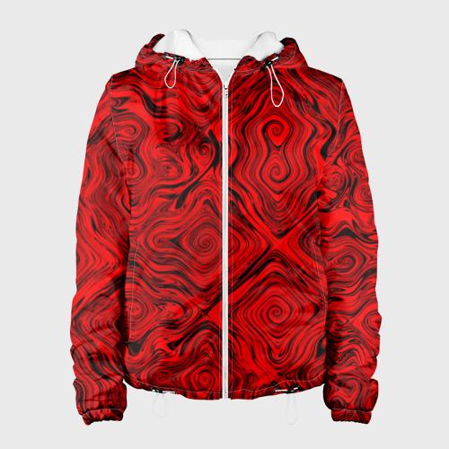 Женская куртка 3D  Фото 01, Tie-Dye red