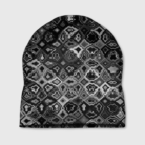 Шапка 3D  Фото 01, абстракция кусочков