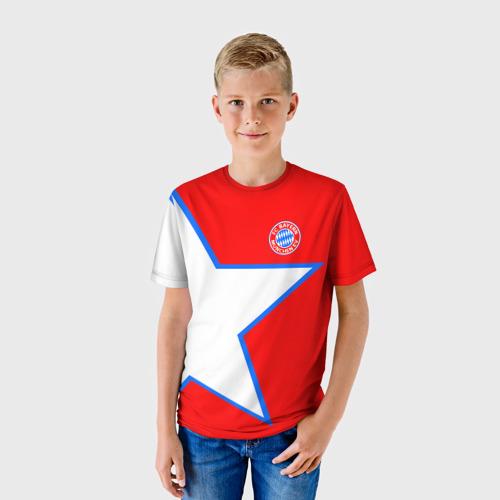 Детская футболка 3D  Фото 01, ФК Бавария 2018