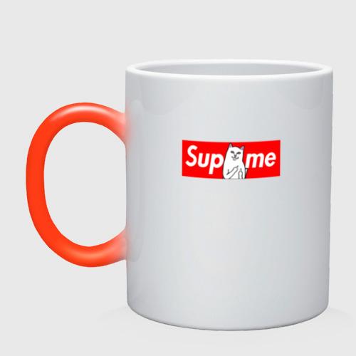 Кружка хамелеон Supreme Ripndip Logo