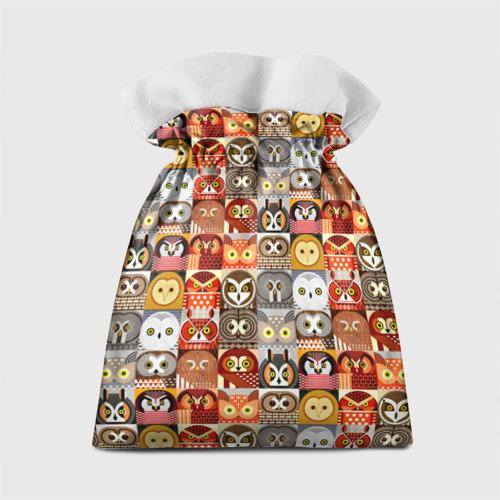 Подарочный 3D мешок Совы Плитка Фото 01
