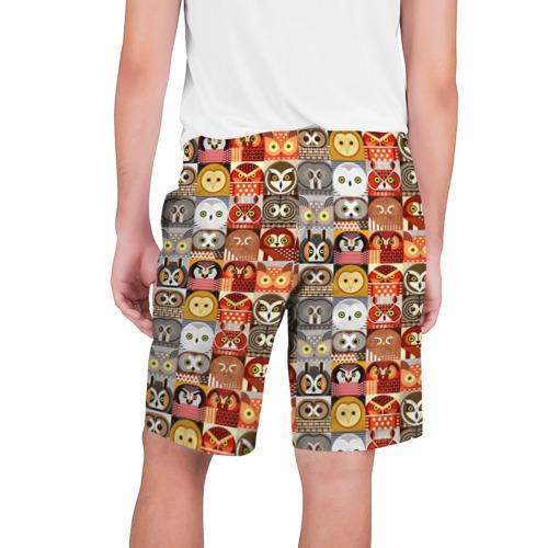 Мужские шорты 3D  Фото 02, Совы Плитка