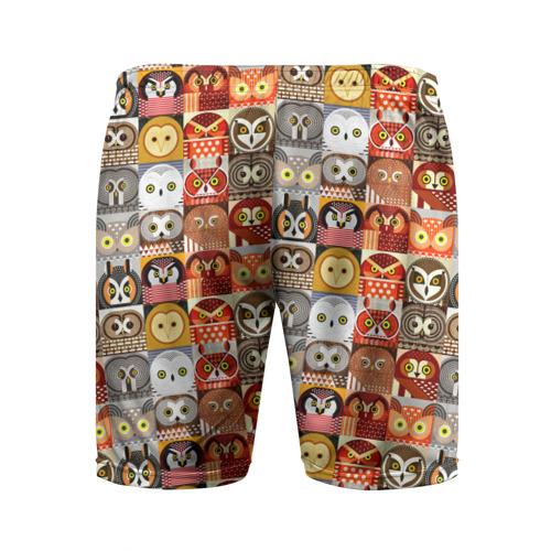 Мужские шорты 3D спортивные Совы Плитка Фото 01