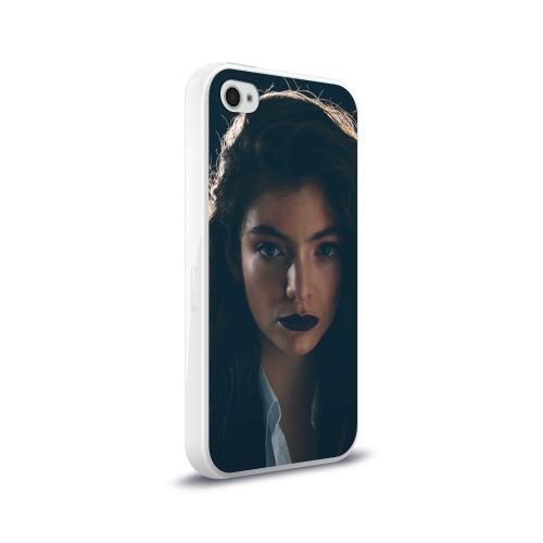Чехол для Apple iPhone 4/4S силиконовый глянцевый  Фото 02, Lorde