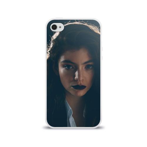 Чехол для Apple iPhone 4/4S силиконовый глянцевый  Фото 01, Lorde