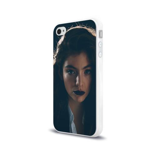 Чехол для Apple iPhone 4/4S силиконовый глянцевый  Фото 03, Lorde