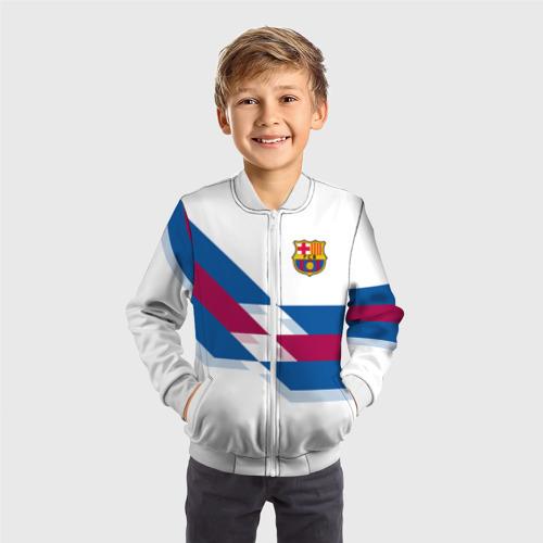 Детский бомбер 3D  Фото 05, FC Barcelona #8