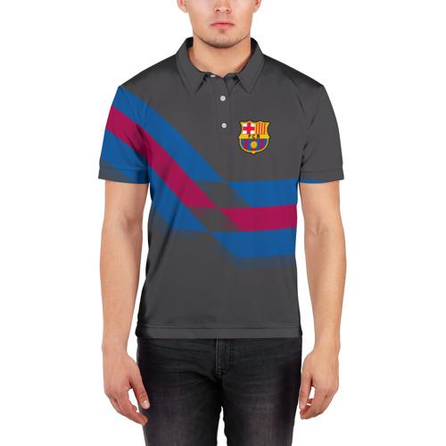 Мужская рубашка поло 3D  Фото 03, FC Barcelona #7